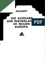 Die Aufgabe der Niederlände im neuen Europa