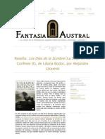 """Crítica a """"Los Días de la Sombra"""", de Liliana Bodoc"""