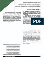 Comportamiento de La Respuestas de Microalgas Acuaticas Bajo La Accion de Auxiliares Textiles Del Proceso Antipolilla