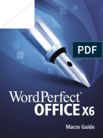 Corel WordPerfect Office X6 Macro Guide
