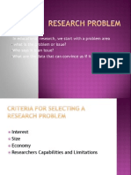 Research Problem Topic 3
