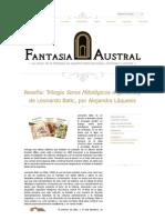 """Crítica a """"Seres Mitológicos Argentinos"""", de Leo Batic"""