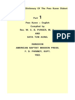 9Aug2014 1P a Comparative Dictionary of the Pwo Karen Dialect