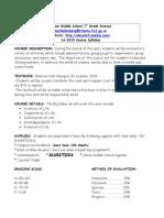 life science syllabus 2014-15