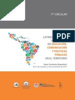 Congreso de Educacion, Comunicación y Políticas Públicas - Primera Circular