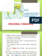 Group 3 Regional Variation Revised