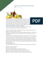 Como Realizar Una Evaluación Dieta