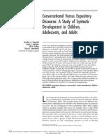 NIPPOLD, M. ET AL (2005) Conversational Versus Expository