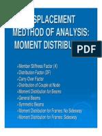 The Moment Distribution Method