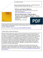 Ethical Dilemmas in Social Work Practice With Disabled People- Young Adults With Autism