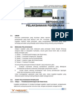 Bab III Metode Pelaksanaan Detail Desain Embung Sangkok Bawi