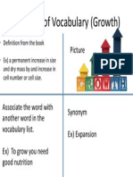 4 square of vocabulary growth
