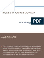 Kode Etik Guru 2013