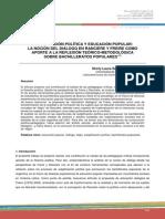 SUBJETIVACIÓN POLÍTICA Y EDUCACIÓN POPULAR