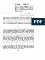 El Modelo Liberal y La Politica Practica en La Republica Restaurada 1867-1876