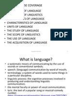 Linguistics Handout01