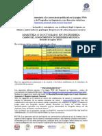 Convocatoria de Ingreso Semestre 2015-1