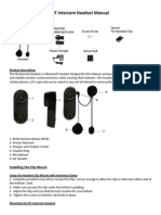 BT IntercomHeadset Manual