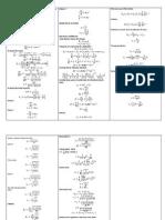 Formulario de Reactores Heterogéneos Segundo Parcial