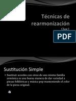 Técnicas de rearmonización