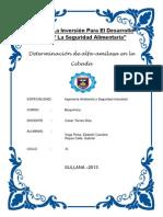 Determinacion de Alfa-Amilasa en La Cabada (Monografia)