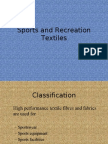 Sports and Recreation Textiles