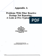 Problems With Fiber Reactive Dyeings Not Repeating - A Look at Five Typical Cases