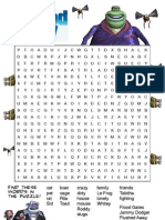 Flushed Away Find-a-word Worksheet 3