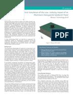 Cross Explicit Simulation Low Velocity Impact Aluminum Panel 13