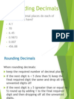 1 rounding decimal places and significant figures
