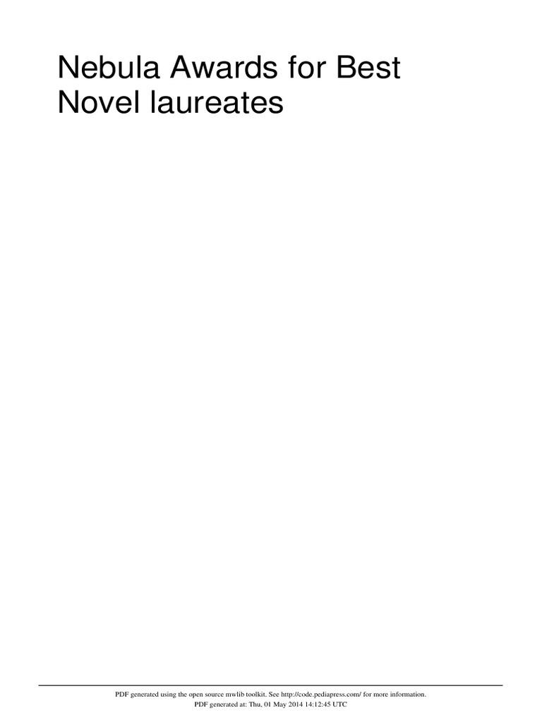 Nebula awards for best novel laureates nebula awards science fiction fandeluxe Image collections