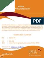 International Translation Day 2014 Invitation