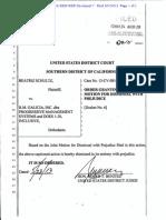 Progressive Management Case Order