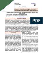 Antimicrobial and Phytochemical Screening of Oligochaeta
