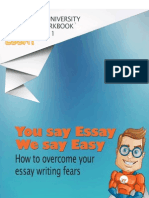 We Do Your Essay Youniversity Workbook 01 - You Say Essay, We Say Easy