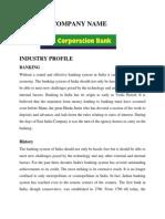 Corporation Bank Mp Birla Internship