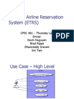 E-Ticket Airline Reservation System (ETRS).