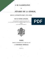 Essai de classification des suites monétaires de la Géorgie