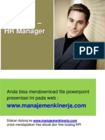 Template Tabel KPI HR Manager