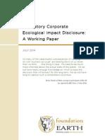 Mandatory Ecological Impact Disclosure Report Final v3