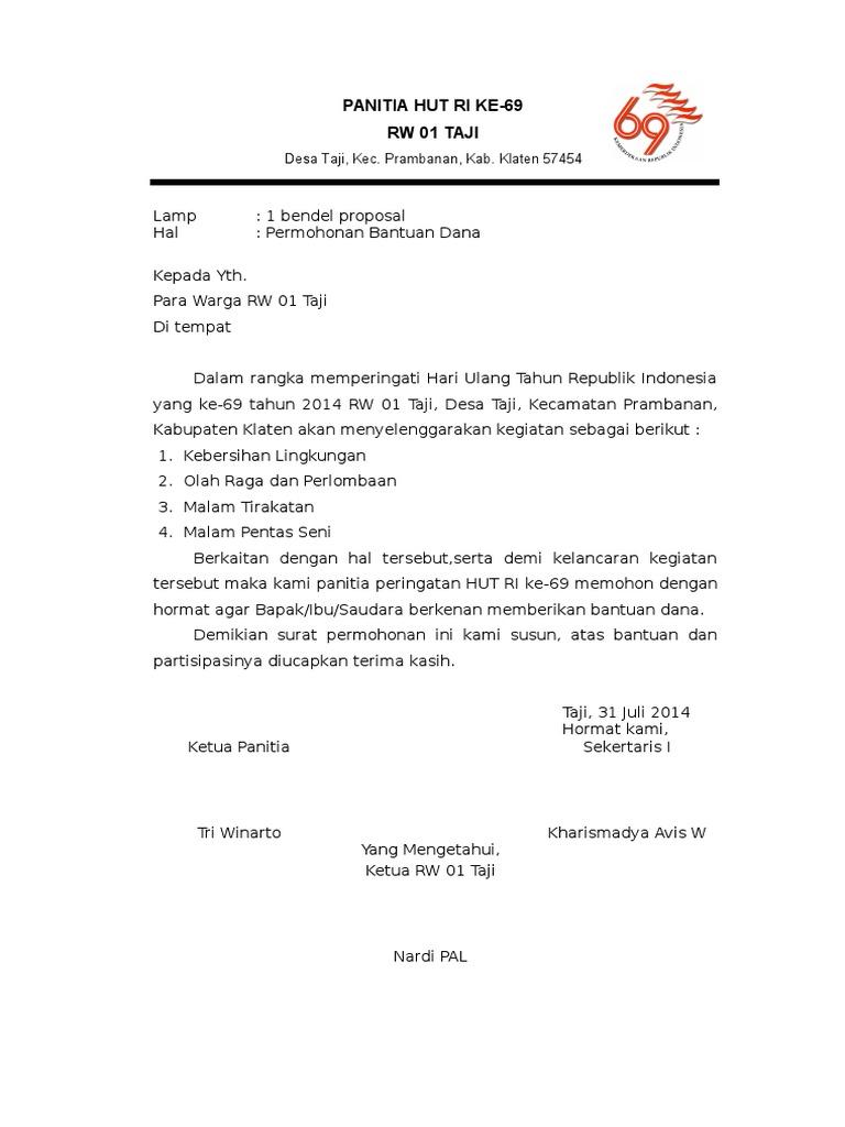 Surat Permohonan Dana Hutdoc