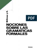 Nociones Sobre Las Gramaticas Formales