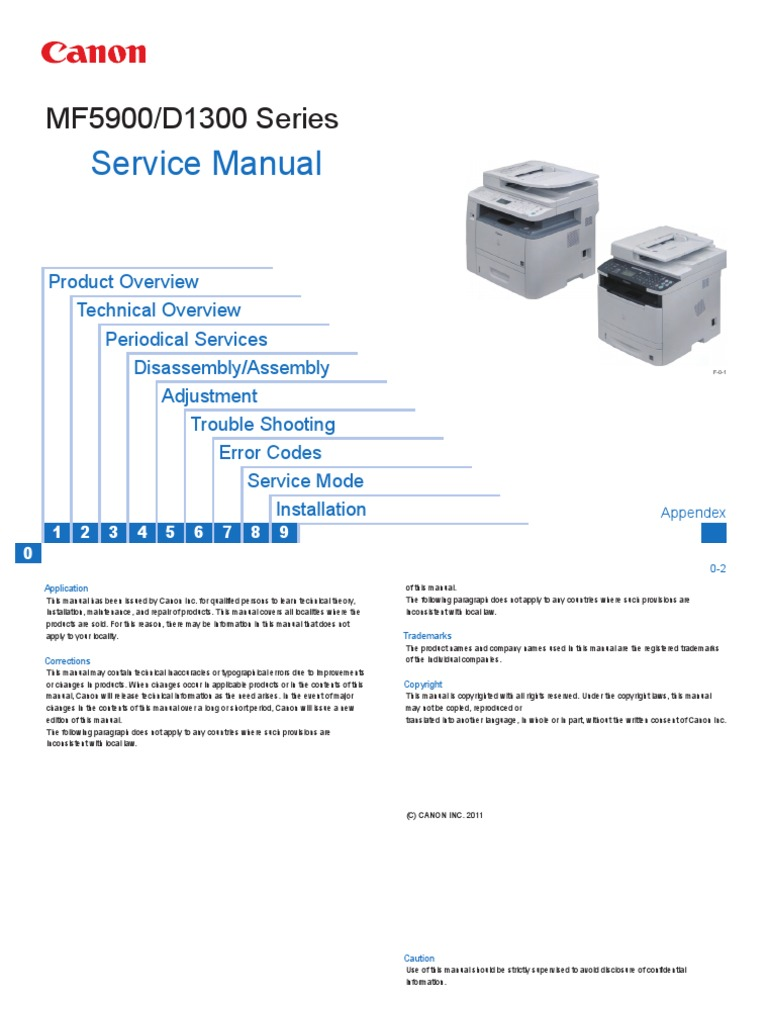 Canon MF5900 Series Service Manual | Electrical Connector ...