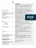 Report Writing Checklist