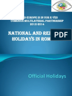 National and Religious Days in Romania