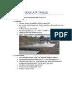 Nota KHB Pertanian Tingkatan 2 Bab 7 Ternakan Air Tawar