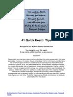 41 Quick Health Tips