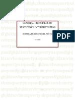 General Principles of Statutory Interpretation