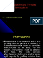 Phenylalanine and tyrosine metabolism (18 Oct)