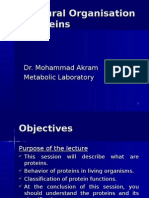 Structural organisation of proteins(1)5 Oct